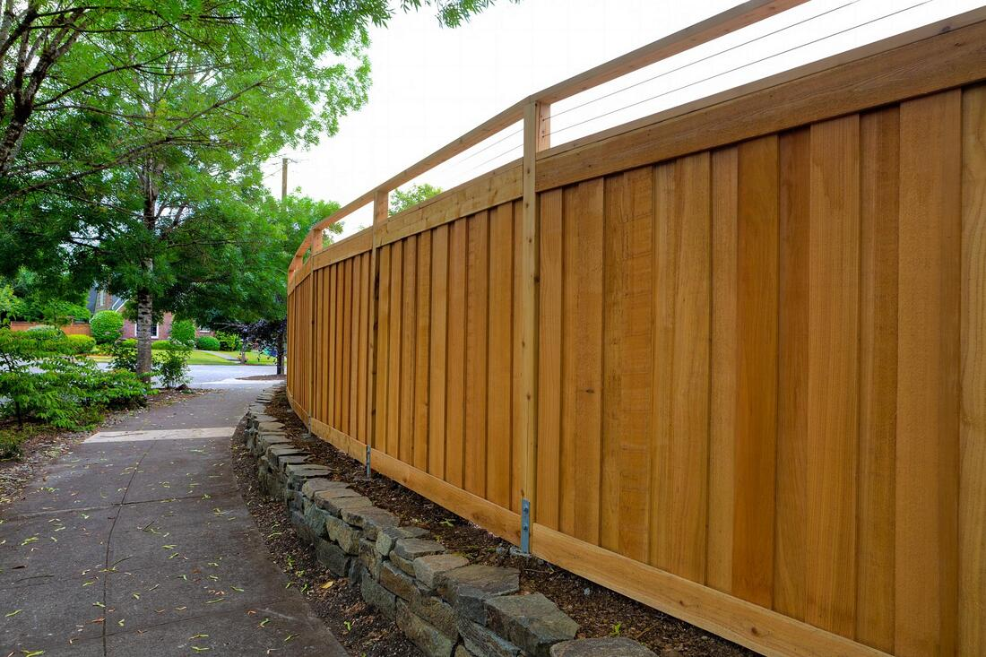 wood fence project completed
